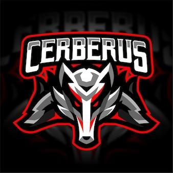 Logo di gioco della mascotte di cerberus