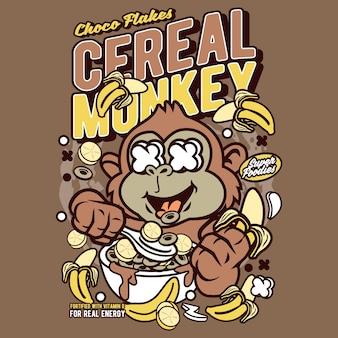 Cartone animato di scimmia di cereali