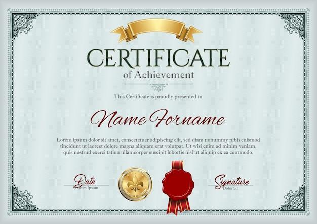 Illustrazione del certificato di conseguimento