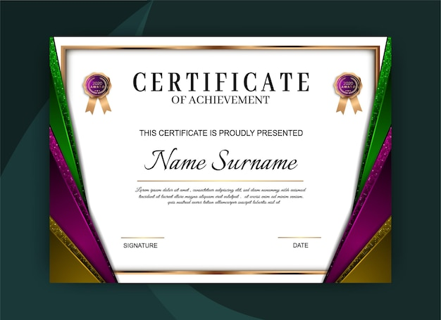Certificato di realizzazione del modello di progettazione
