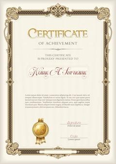 Certificato di conseguimento cornice d'epoca.