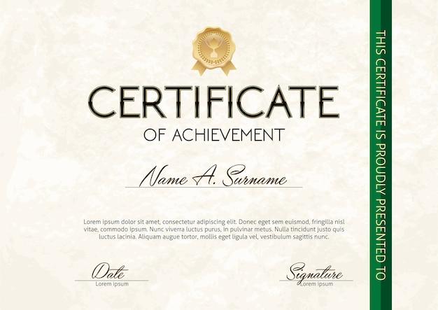 Certificato di successo