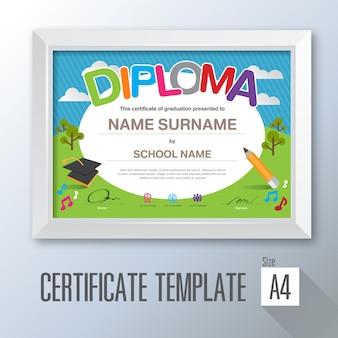 Modello di certificato di apprezzamento.