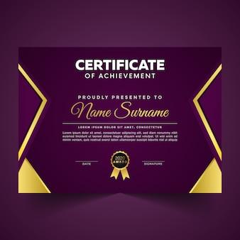 Certificato di modello di progettazione di apprezzamento