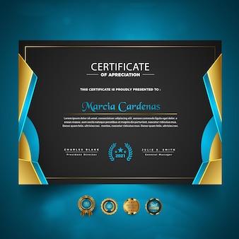 Certificato di progettazione del modello di apprezzamento