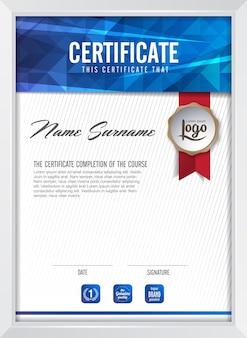 Modello di sfondo del certificato