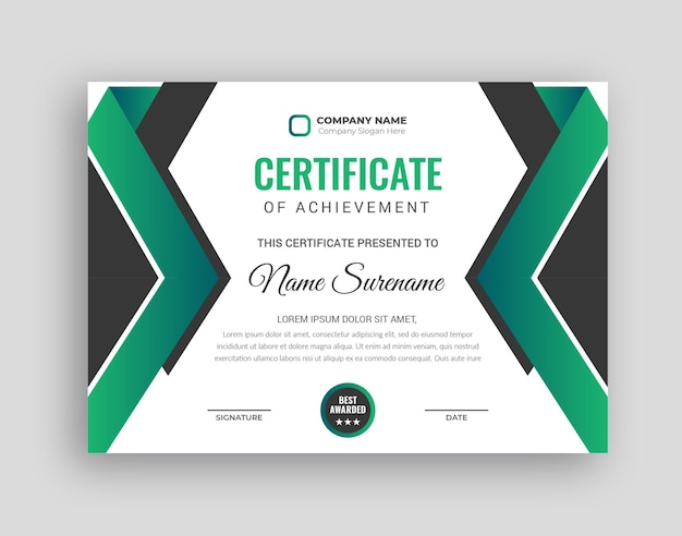 Modello di progettazione del certificato per il successo