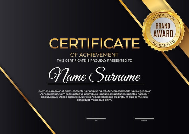 Certificato, modello di diploma