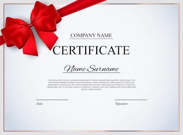 Modello di certificato premio diploma design vuoto. illustrazione vettoriale