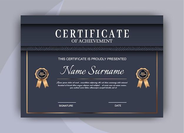 Sfondo del modello di certificato. premio diploma design vuoto. disegno dell'illustrazione