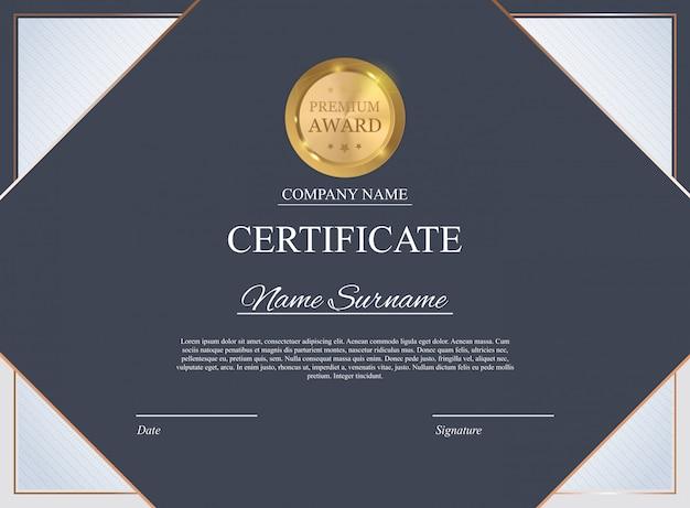 Sfondo del modello di certificato. premio diploma design vuoto. illustrazione vettoriale