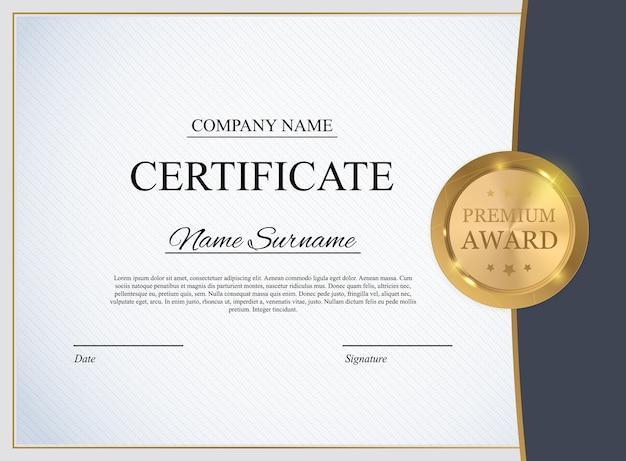 Sfondo del modello di certificato. premio diploma design vuoto.