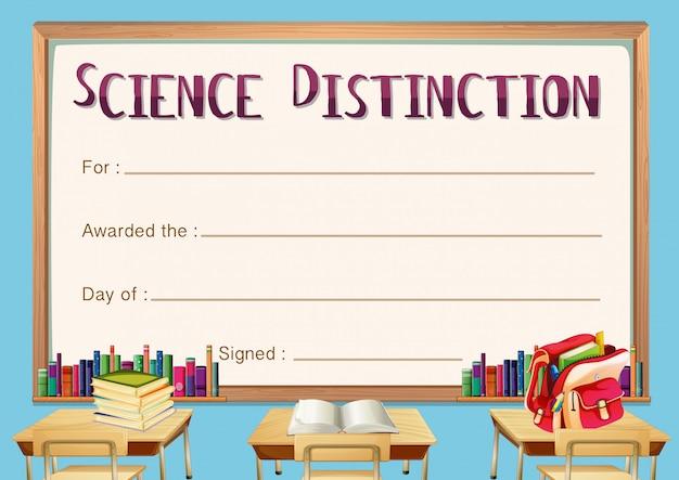 Modello di certificato per la distinzione scientifica
