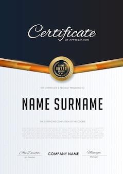 Modello di certificato con motivo di lusso