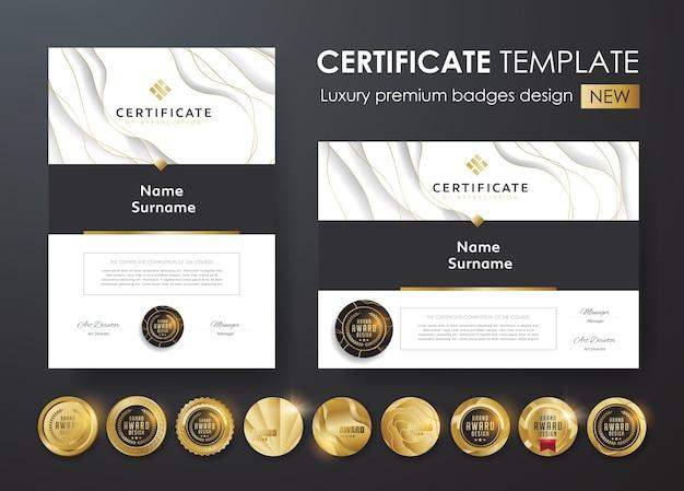 Modello di certificato con motivo moderno