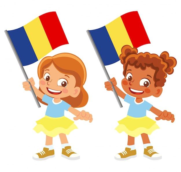 Bandiera del ciad in mano insieme