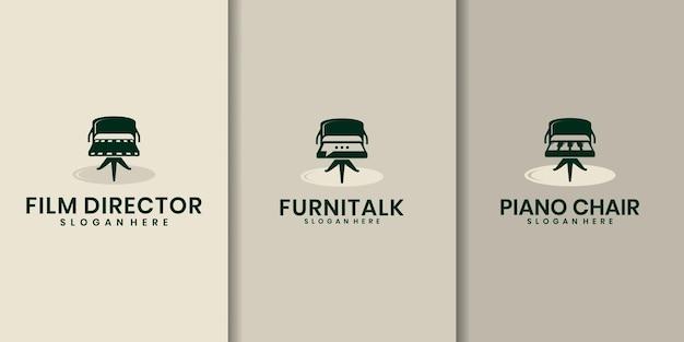 Set di combinazioni di logo della sedia