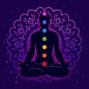 Illustrazione di concetto di chakra