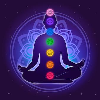 Concetto di illustrazione di chakra