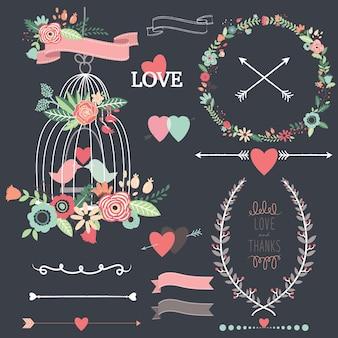 Lavagna birdcage matrimonio fiori