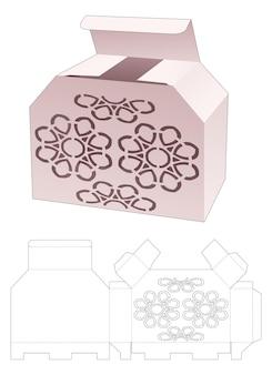 Scatola smussata con modello fustellato a mandala stampato
