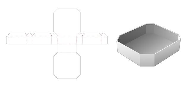 Modello fustellato vassoio rettangolare smussato
