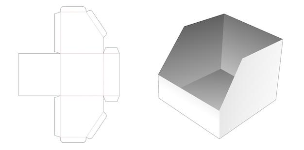 Modello fustellato di scatola di cancelleria smussato