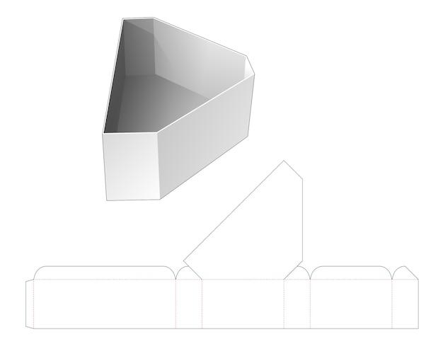 Modello fustellato per ciotola a forma triangolare smussata