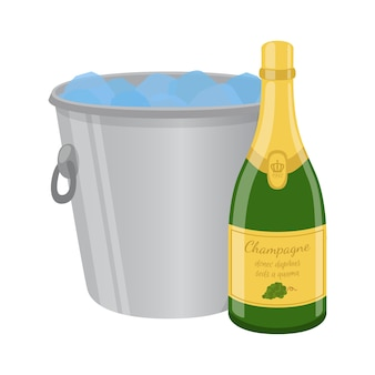 Champagne nel secchiello del ghiaccio