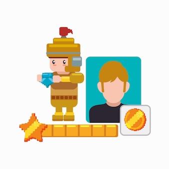 Moneta del gioco del cavaliere del personaggio