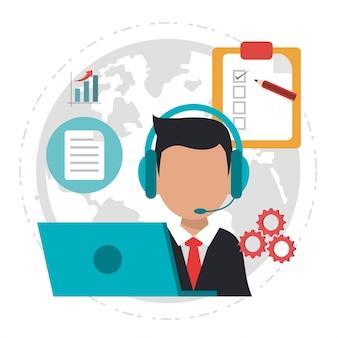 Servizio logistico di call center di carattere