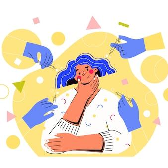 Il personaggio della ragazza dubita se iniettare botox
