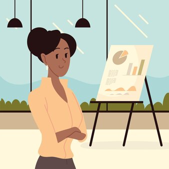 Personaggio donna in ufficio