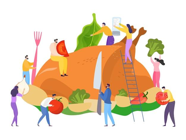 Charcater cucinare il concetto di cena