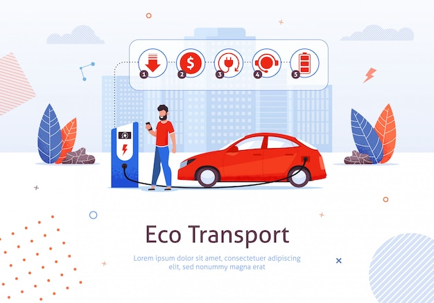 Caricare l'auto elettrica, salvare la natura con eco tech.