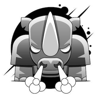 Ricarica idea del personaggio di rhino per roba stampabile per bambini e ragazzi e maglietta, biglietto di auguri, arte della parete della scuola materna, cartolina