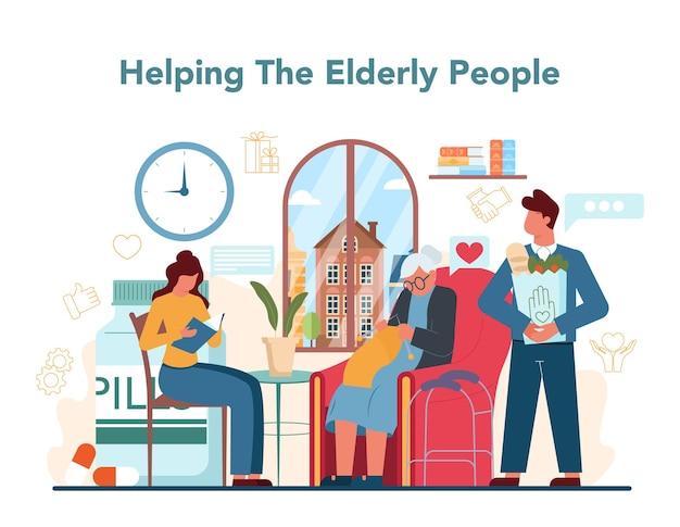 La comunità di beneficenza sostiene e si prende cura delle persone bisognose