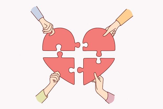 Concetto di aiuto di beneficenza e donazione