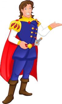 Cartone animato principe azzurro
