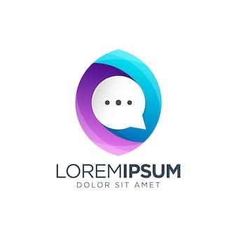 Chat bubble gradient logo design