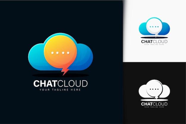 Chat design del logo cloud con gradiente