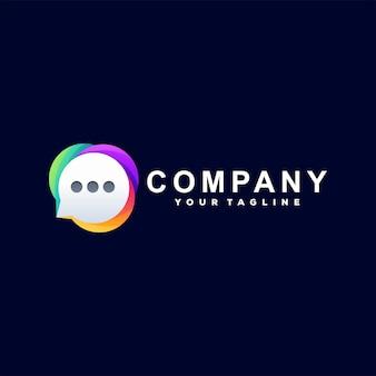 Chat modello logotipo gradiente di colore