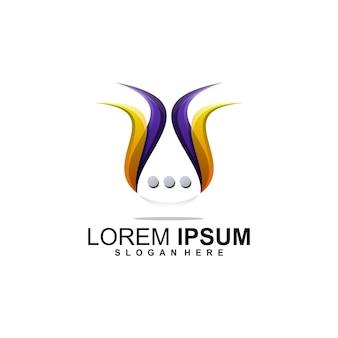 Design del logo della chat premium