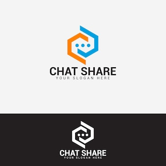 Chat logo design vector template