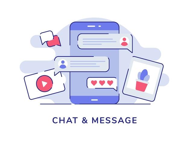 Chat e immagine video di chat con bolle di messaggi