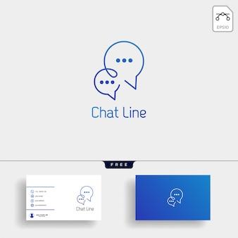 Chat, messaggio, discorso, modello di logo di conversazione con biglietto da visita