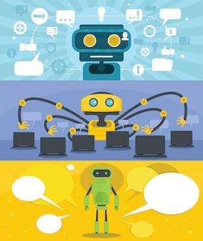 Chat sfondo del robot