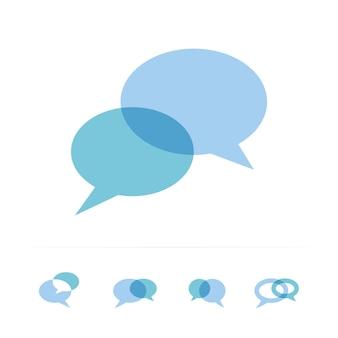 Chat parlare parlare icona comunicazione consulenza logo risposta dialogo messaggistica segno consultare supporto