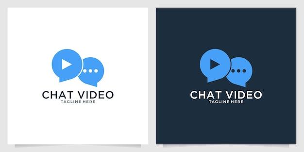 Chatta con il design del logo video
