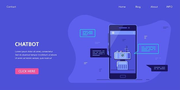 Chatbot banner concept design